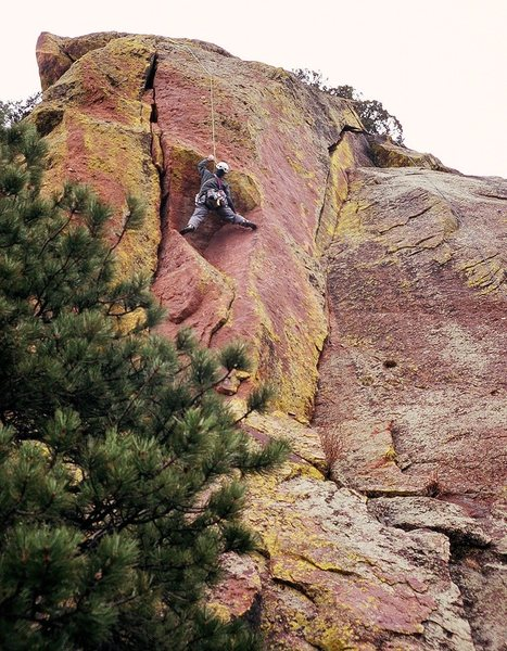 Rock Climbing Photo: Steve Levin susses out the roof on'Sick and Wrong'...