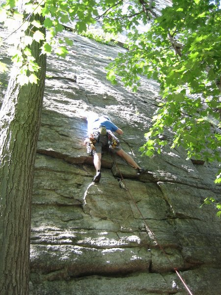 Rock Climbing Photo: Start of Snooky's Return (5.8 variation - the 5.7 ...