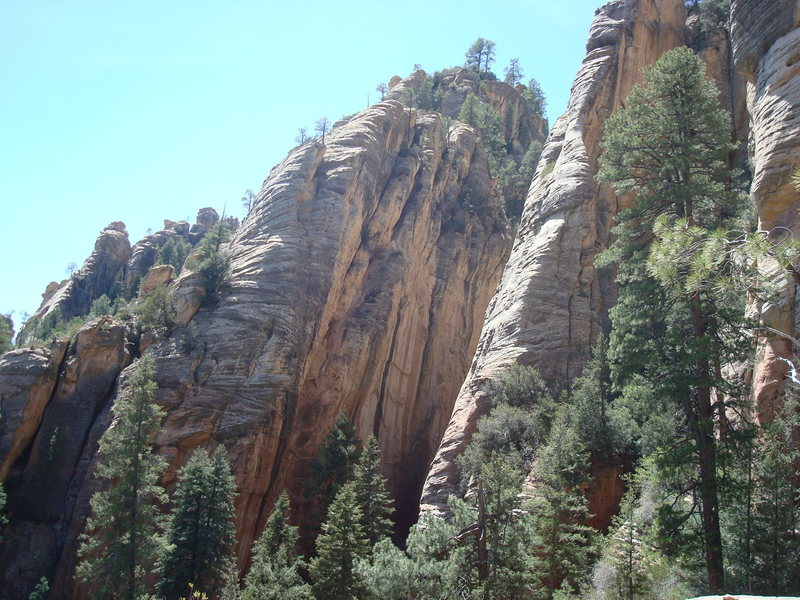 Rock Climbing Photo: Looking across at the 250-foot South Wall of the D...