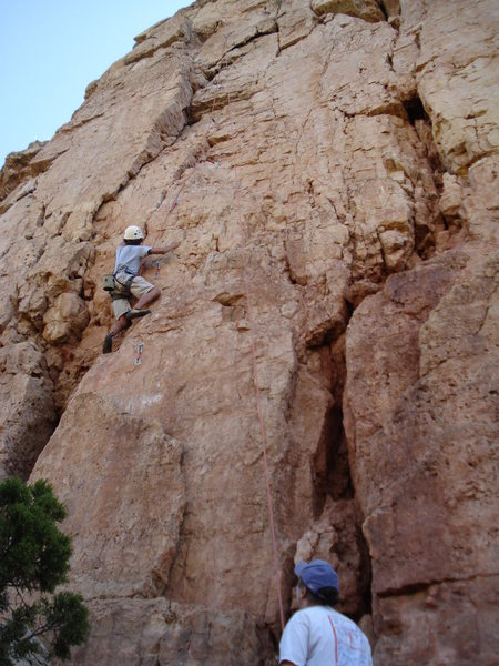 Andre on first ascent.