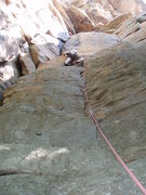 Rock Climbing Photo: About to make the moves from left to right and fol...