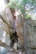 Rock Climbing Photo: Start of the Chimney route?