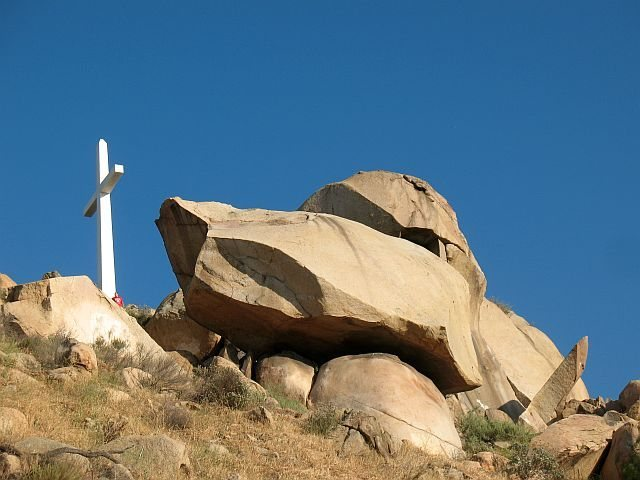 Rock Climbing Photo: Cross Rock Area with (l-r) Minor, Major and the Sm...