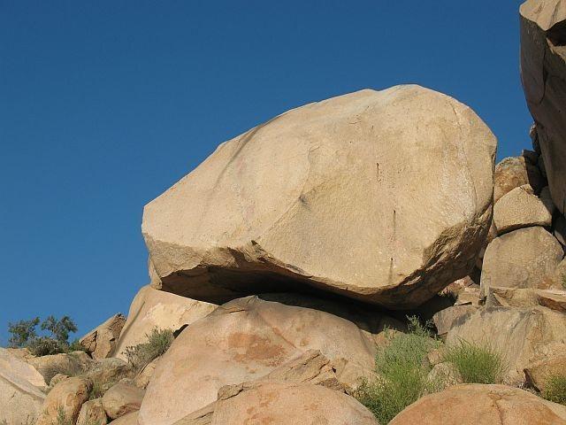 Rock Climbing Photo: The west face of Minor, Mt. Rubidoux