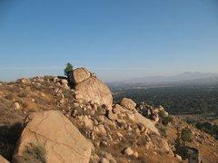 Rock Climbing Photo: Joe Brown from the north, Mt. Rubidoux