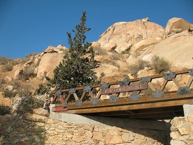 The Ben Lewis Bridge and Joe Brown, Mt. Rubidoux