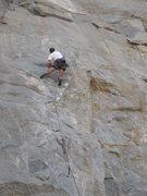 Rock Climbing Photo: At the crux on Original Sin (5.11a), Riverside Qua...