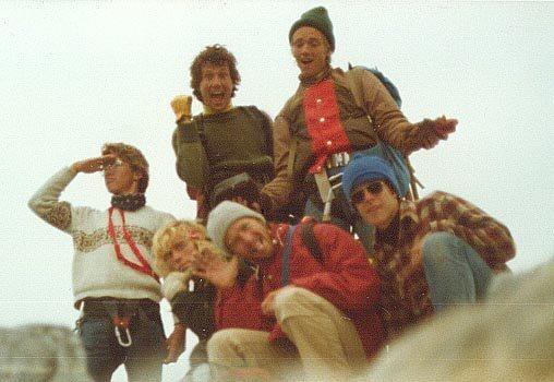 Rock Climbing Photo: Summit of Grand Teton Sacred Summit Scrote Six 197...