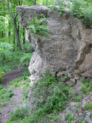 Rock Climbing Photo: One of the taller bluffs at ledge park.
