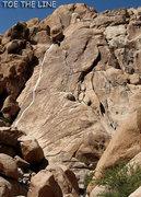 "Rock Climbing Photo: ""Toe The Line"" Photo by Blitzo."