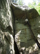 Rock Climbing Photo: CC Route is the crack on the left.  Note: the clim...