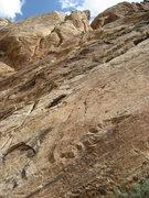 Rock Climbing Photo: Paul nearing top of The Dark Side