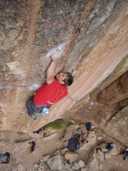 Rock Climbing Photo: Cruxy crimper.