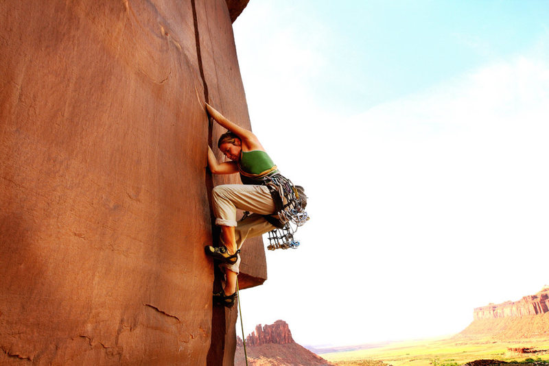 Rock Climbing Photo: Caroline Schaumann on an Unknown crack on the 4x4 ...