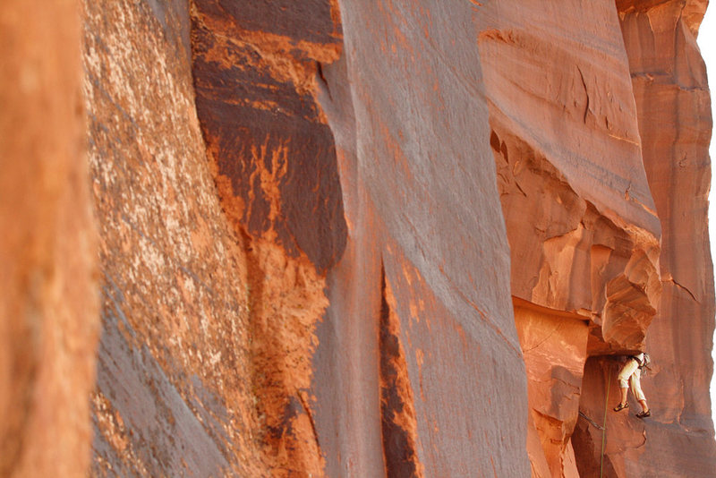 Rock Climbing Photo: A climbers disappears into yet another beautiful c...