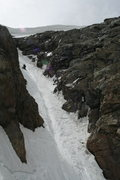 Rock Climbing Photo: Nathan at the crux, he didn't manage the runnel ve...