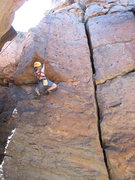 Rock Climbing Photo: Cody making quick work of the bottom section of Th...