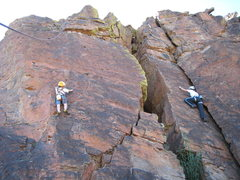 Rock Climbing Photo: Cody on Princess Buttercup and Amy B. on 99 Red Ba...