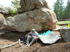 "Rock Climbing Photo: Dana getting ready to send ""The Liberal"""