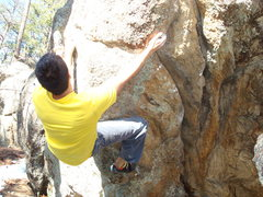 Rock Climbing Photo: Setting the heel hook to keep things going on &quo...