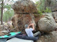 "Rock Climbing Photo: Dana starting up ""The Conservative"""