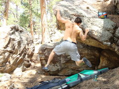 """Rock Climbing Photo: Making the throw to the finishing hold on """"C...."""