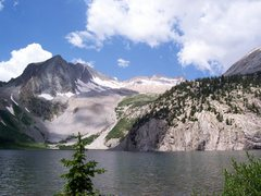 Snowmass Mountain towering over Snowmass Lake
