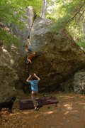 Rock Climbing Photo: Muel taking in this wonderful problem