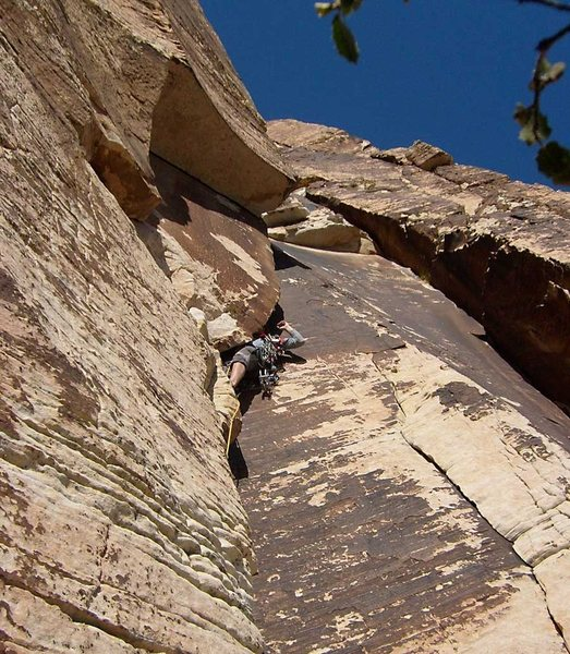 Rock Climbing Photo: Entering the initial squeeze chimney.