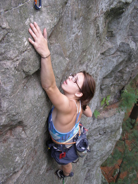 Rock Climbing Photo: Seeing if I could reach the clip