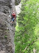 Rock Climbing Photo: Robert MacKinnon leading Physical Therapy