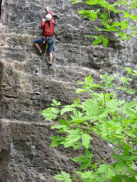 Rock Climbing Photo: Robert MacKinnon leading Black Hole