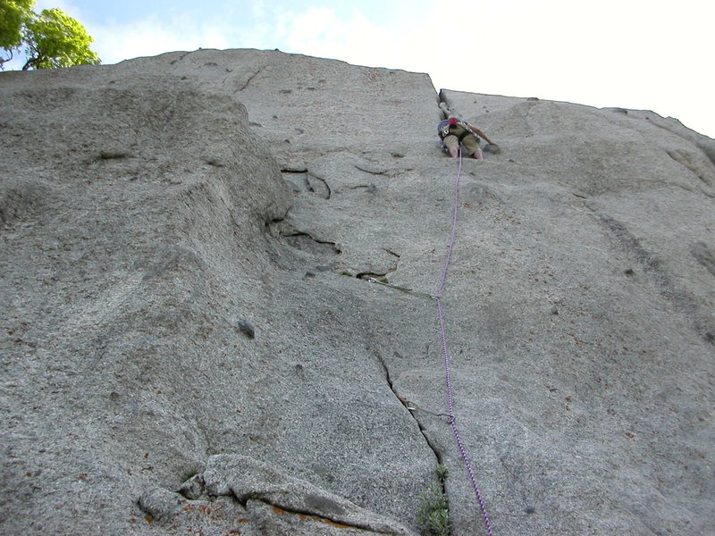 Here I am at the start of the crack.