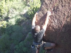 Rock Climbing Photo: NM, cochiti mesa crag Unknown 5.10b/c