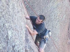 Rock Climbing Photo: NM, cochiti mesa crag Just say no to crack 5.10a