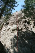 Rock Climbing Photo: Area 13 - Left Side Topo