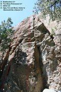 Rock Climbing Photo: Area 13 - Left Side Topo