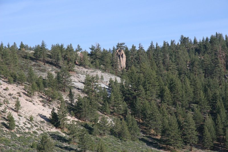 Junction Rock's South East side from the 395.