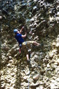 Rock Climbing Photo: Leading 11d in the Pipeline, Maple Canyon