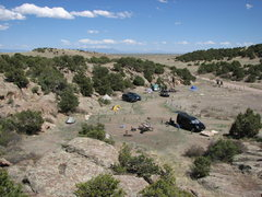 "Rock Climbing Photo: Black Owl 1 and other ""tents"" of the DCC..."
