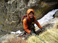 Rock Climbing Photo: Jordon following the last tricky pitch.  Hallett C...