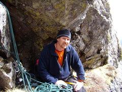 Rock Climbing Photo: Myself at the belay enjoying the first sunshine of...