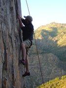 Rock Climbing Photo: Jesse on Intelligent Life Form