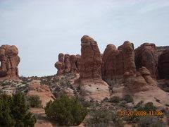 Rock Climbing Photo: Owl Rock, Arches Nat'l Park - fun warmup tower