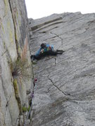 Rock Climbing Photo: The first crux