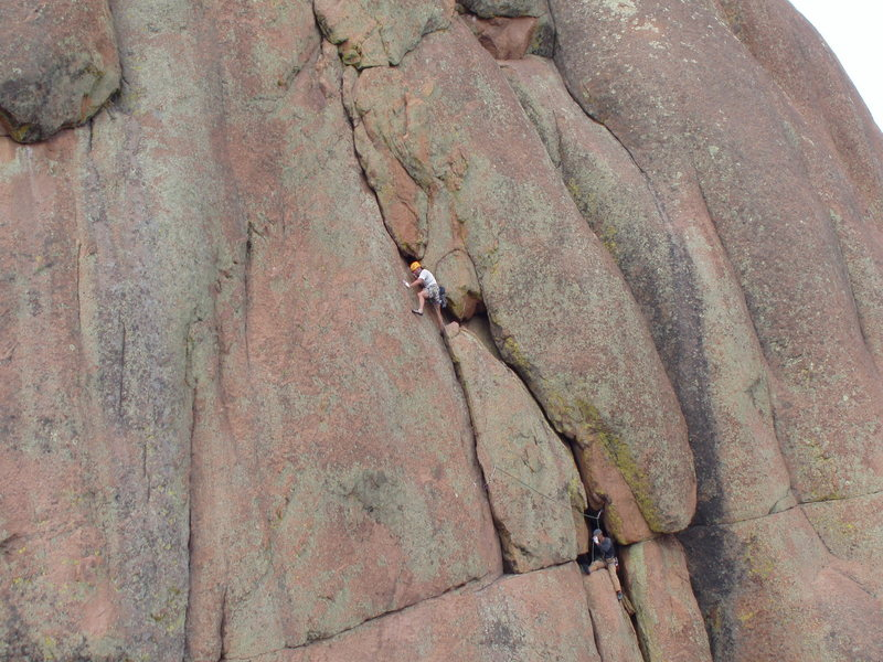 Rock Climbing Photo: Unknown climbers on 3rd pitch.