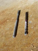 Rock Climbing Photo: Rebar Eater Vs standard hammer drill bit.  Rotary ...