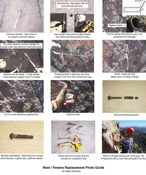 Rock Climbing Photo: Rawl replacement guide.  I'll have to add the powe...