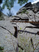 Rock Climbing Photo: Beginning the 10 section. King Tut and Rameses are...