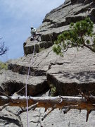 Rock Climbing Photo: At the top of the corner on the 10 section. From h...